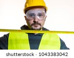 a man who wants to do a work... | Shutterstock . vector #1043383042