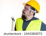 do it yourself  man dressed in... | Shutterstock . vector #1043383072
