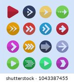 colored arrows. vector icon... | Shutterstock .eps vector #1043387455