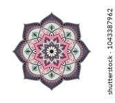 flower mandala. vintage... | Shutterstock .eps vector #1043387962