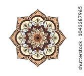 flower mandala. vintage...   Shutterstock .eps vector #1043387965