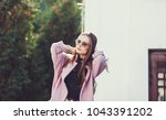 fashion woman portrait of young ...   Shutterstock . vector #1043391202
