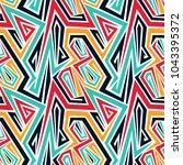 seamless abstract vector...   Shutterstock .eps vector #1043395372