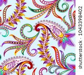seamless bright pattern with... | Shutterstock .eps vector #1043398402