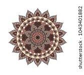 flower mandala. vintage... | Shutterstock .eps vector #1043401882