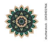 flower mandala. vintage... | Shutterstock .eps vector #1043401966