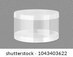 translucent plastic jar.... | Shutterstock .eps vector #1043403622