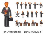 smart businessman character... | Shutterstock . vector #1043405215