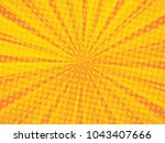 bright sunbeams with yellow and ... | Shutterstock .eps vector #1043407666