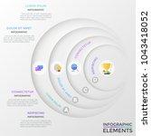 four paper white circular...   Shutterstock .eps vector #1043418052