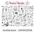 internet of things. hand drawn... | Shutterstock .eps vector #1043422036