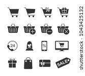 vector image set of shopping... | Shutterstock .eps vector #1043425132