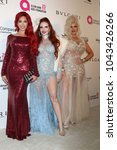 Small photo of LOS ANGELES - MAR 4: Farrah Abraham, Phoebe Price, Sophia Vegas Wollersheim at the 2018 Elton John Oscar Viewing Party at the West Hollywood Park on March 4, 2018 in West Hollywood, CA