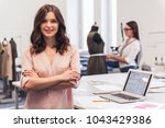 beautiful fashion designers are ... | Shutterstock . vector #1043429386