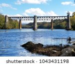 old stone railroad piers in... | Shutterstock . vector #1043431198