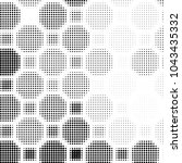 spotted black and white grunge... | Shutterstock . vector #1043435332
