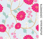 vivid repeating floral   for...   Shutterstock . vector #104344076