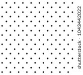 black seamless polka dots...   Shutterstock .eps vector #1043442022