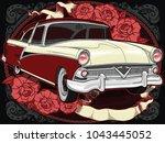 retro vintage vector 60s  50s... | Shutterstock .eps vector #1043445052
