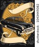 retro vintage vector 60s  50s...   Shutterstock .eps vector #1043445082