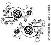Vector Rose Element  Flower...