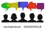 people speech  communication... | Shutterstock .eps vector #1043450518