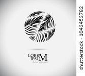 logo palm leaf. vector