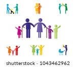 colorful abstract pictograms... | Shutterstock .eps vector #1043462962