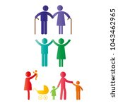 colorful abstract pictograms... | Shutterstock .eps vector #1043462965