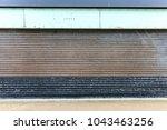 garage dirty and oxide metal... | Shutterstock . vector #1043463256