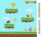 video platform game interface... | Shutterstock .eps vector #1043463418