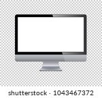 lcd tv monitor isolated vector... | Shutterstock .eps vector #1043467372