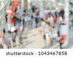 view of a trade show with... | Shutterstock . vector #1043467858