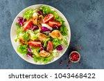 fresh vegetable salad of...   Shutterstock . vector #1043468422