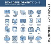 seo and app development. search ... | Shutterstock .eps vector #1043469235
