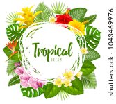 summer tropical design for... | Shutterstock .eps vector #1043469976