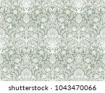 seamless green lace background... | Shutterstock .eps vector #1043470066