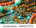 tools  bead tiger eye ...   Shutterstock . vector #1043471776