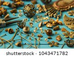 tools  bead tiger eye ... | Shutterstock . vector #1043471782