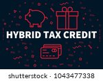conceptual business... | Shutterstock . vector #1043477338