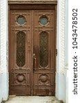 ancient antique wooden in an... | Shutterstock . vector #1043478502
