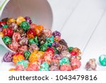 brightly colored candied...   Shutterstock . vector #1043479816