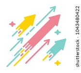 arrows shooting to the stars.... | Shutterstock .eps vector #1043480422