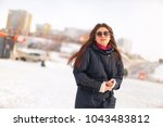 young attractive woman... | Shutterstock . vector #1043483812