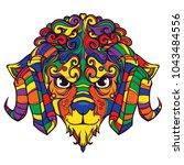 line art face of sheep  ram...   Shutterstock .eps vector #1043484556