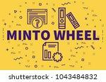 conceptual business... | Shutterstock . vector #1043484832
