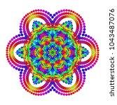 vector mystical mandala for... | Shutterstock .eps vector #1043487076