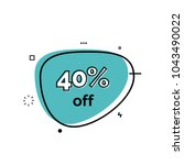 forty percent off lettering on... | Shutterstock .eps vector #1043490022