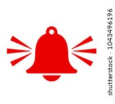 red alarm bell vector icon... | Shutterstock .eps vector #1043496196