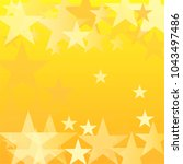 gold stars vector background.... | Shutterstock .eps vector #1043497486